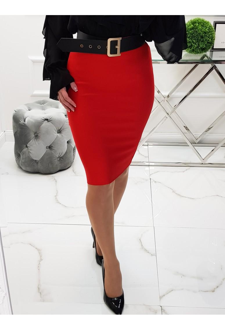 Bandažová sukňa Red
