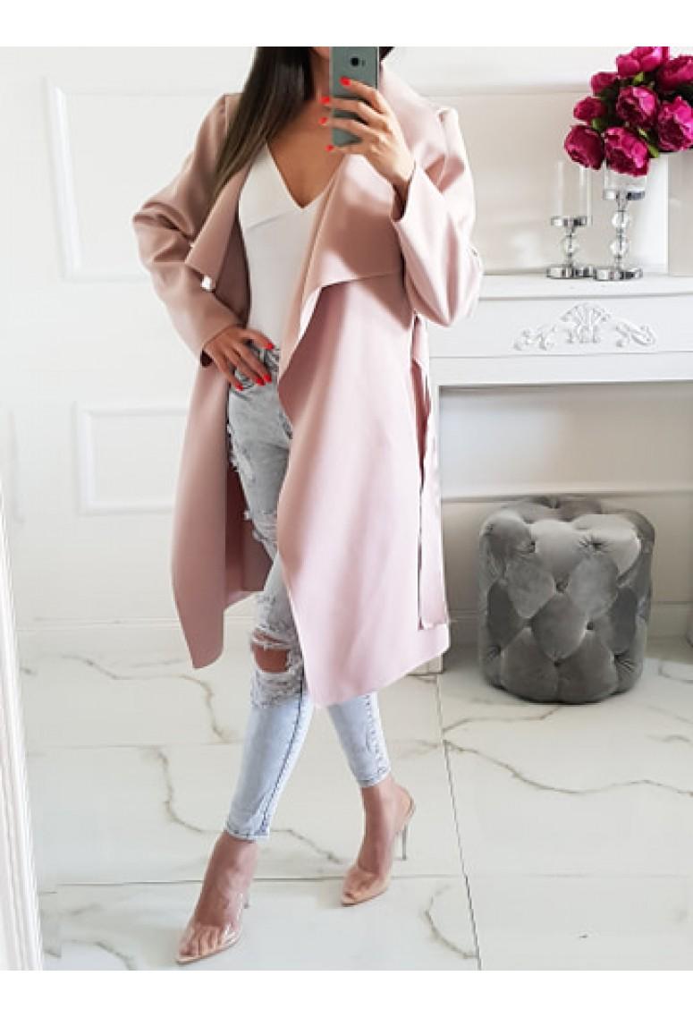 Prechodný kabát Mia - pudrovoružový