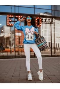 Bavlnená mikina/top Daisy - jeans blue