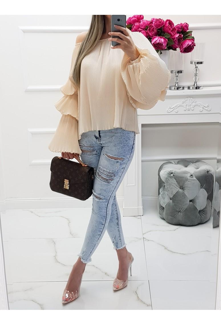 Blúzka Mia Bell - creme beige