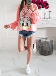Bavlnená mikina/top Daisy sugar pink