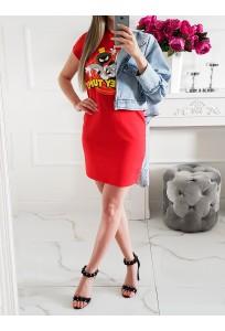 Šaty Looney - červené