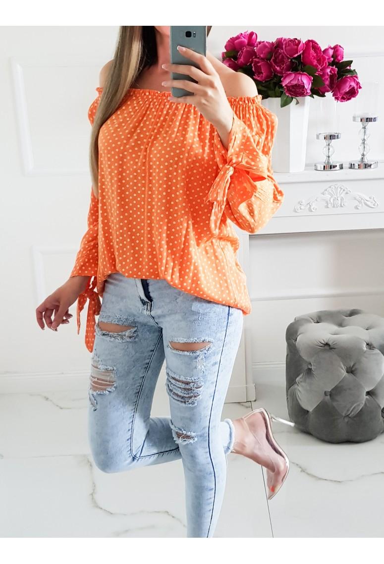 Pohodlná blúzka Oran - pomarančová