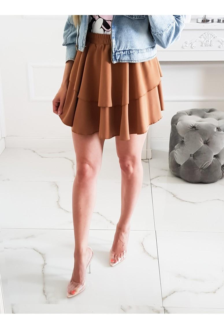 Volánová sukňa LaTika - škoricová