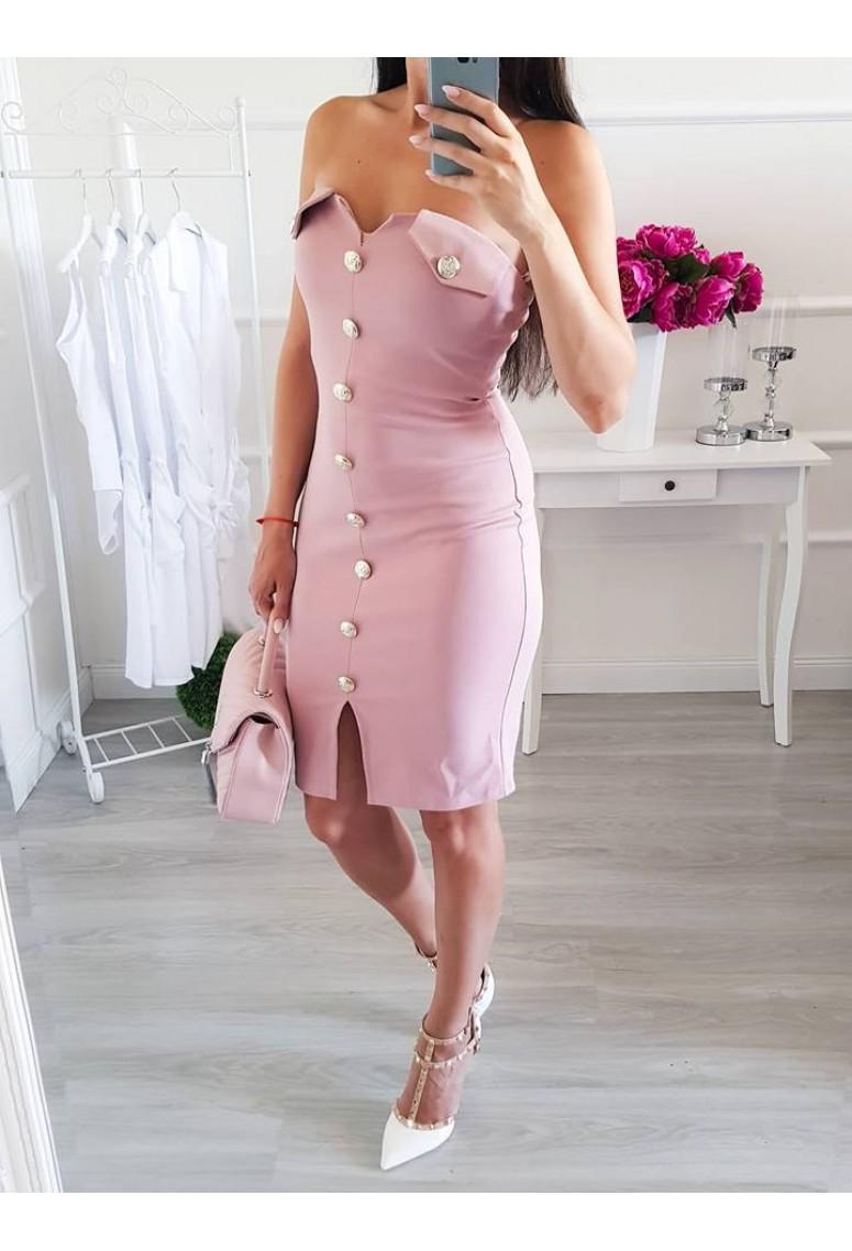Šaty Luxe Femme - staroružové/bledé