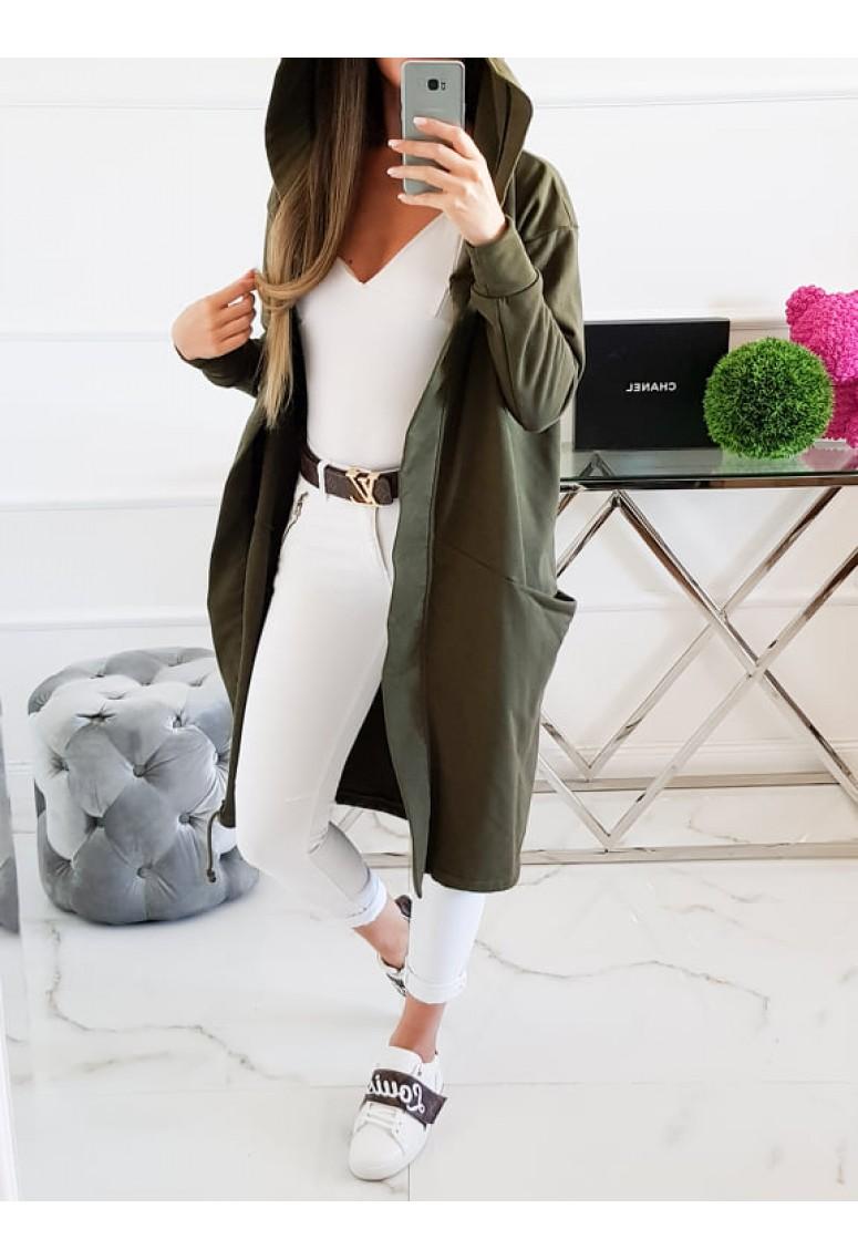Teplákový kabátik Miss City Women - khaki