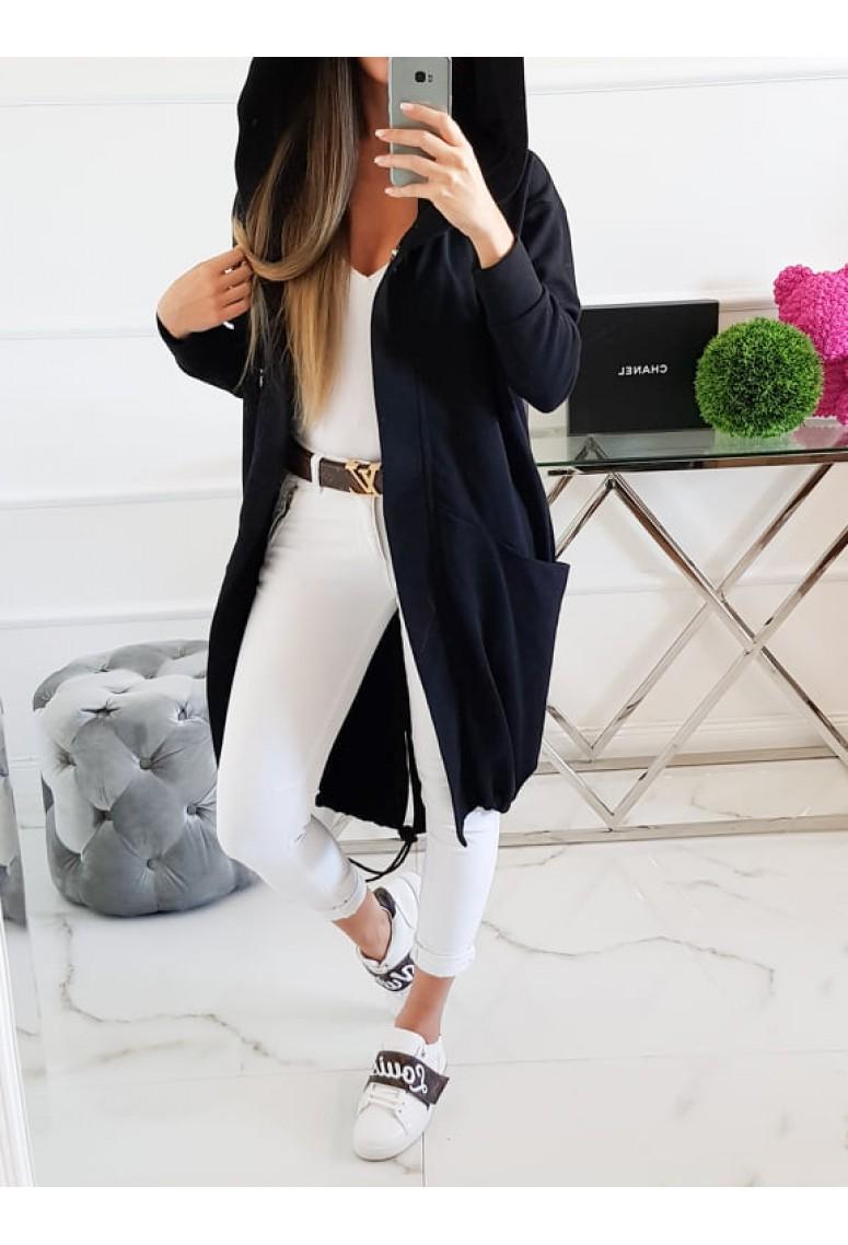Teplákový kabátik Miss City Woman - čierny