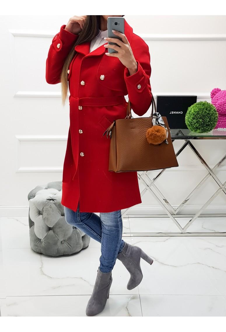 Prechodný kabát Victoria- červený