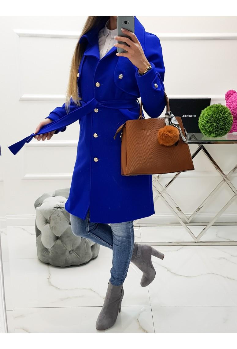 Prechodný kabát Victoria - parížsky modrý