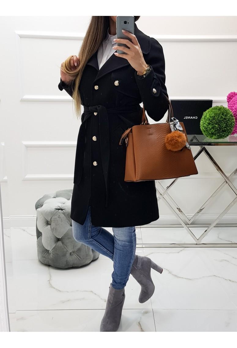 Prechodný kabát Victoria - čierny