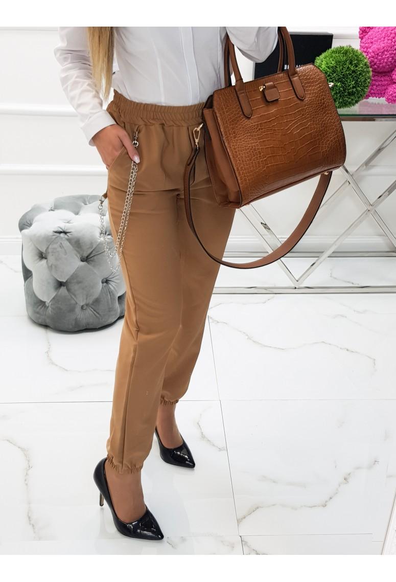 Nohavice s retiazkou Visa- Camel