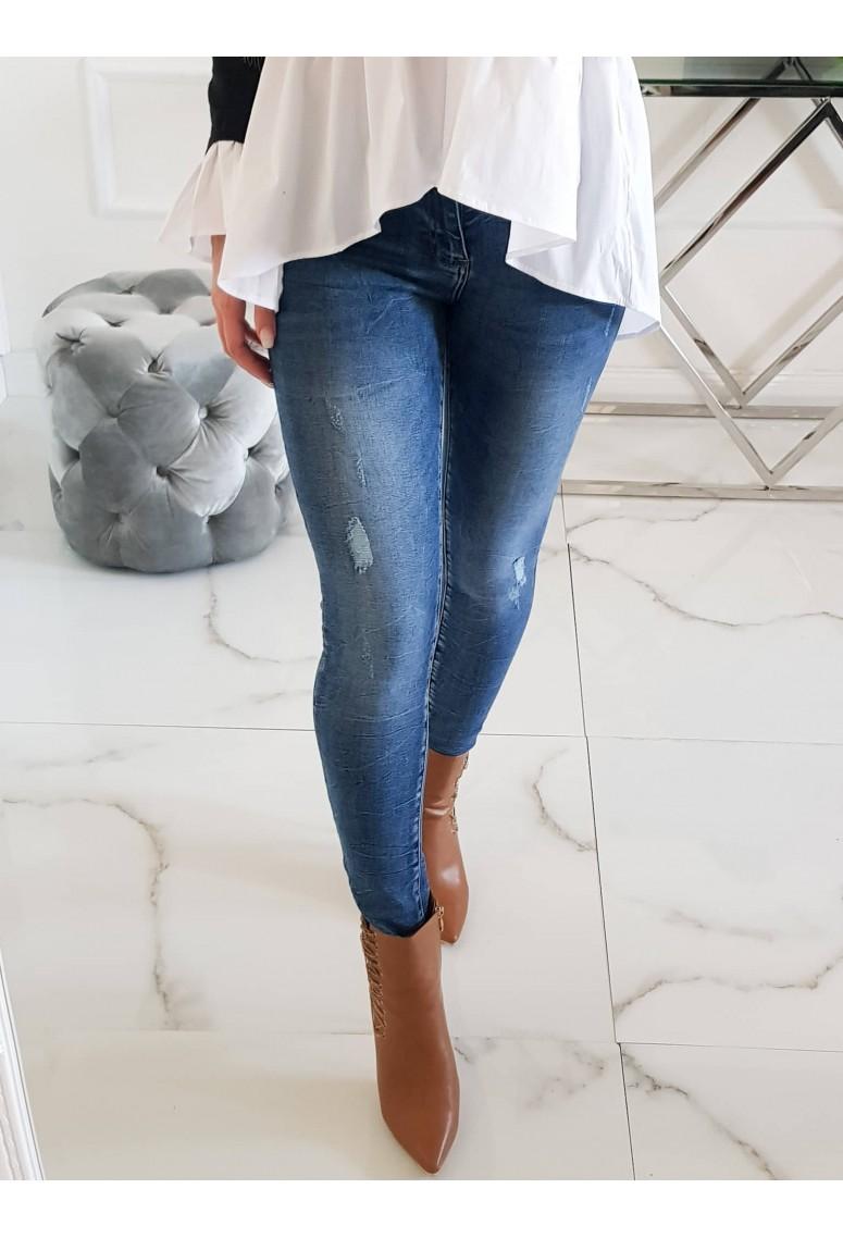Skinny jeans Kette - tmavomodré