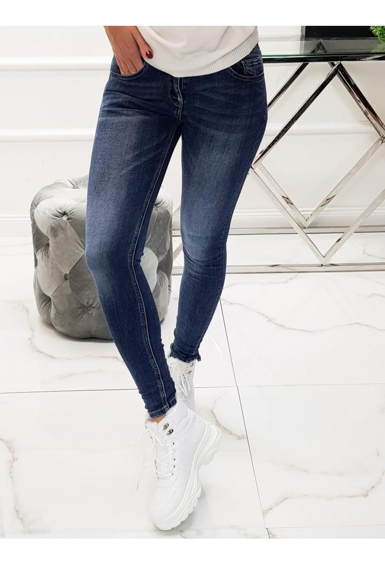 Skinny jeans Blue B - tmavomodré