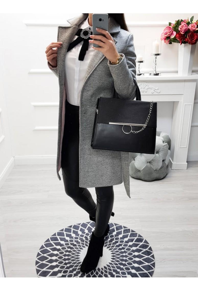 Kabát Elegance - sivý