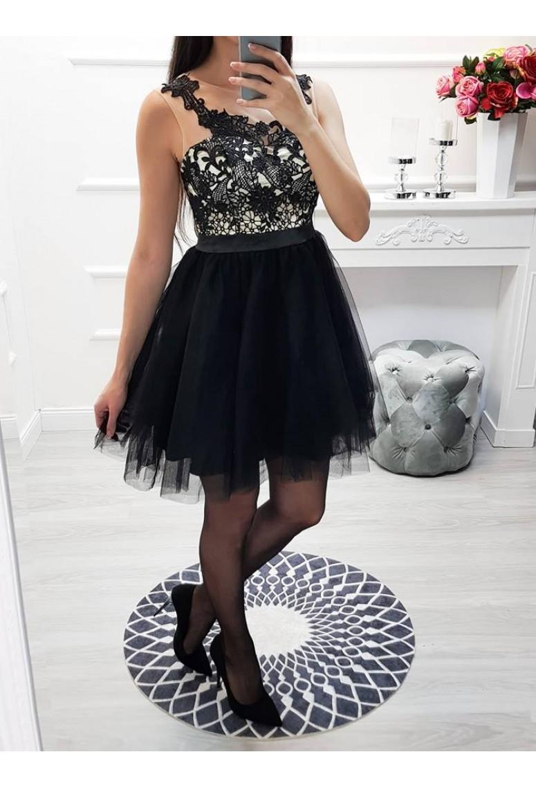 ad4133946a8d Krátke spoločenské šaty Adele - čierne