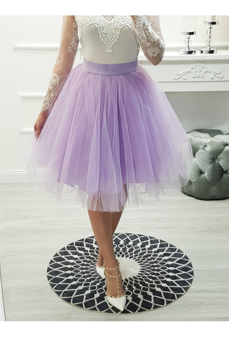 Tylová suknička Balette - fialová