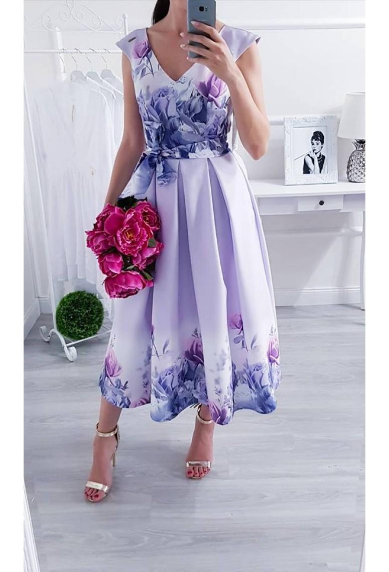 0156927e3c3e Spoločenské šaty Purple Flowers