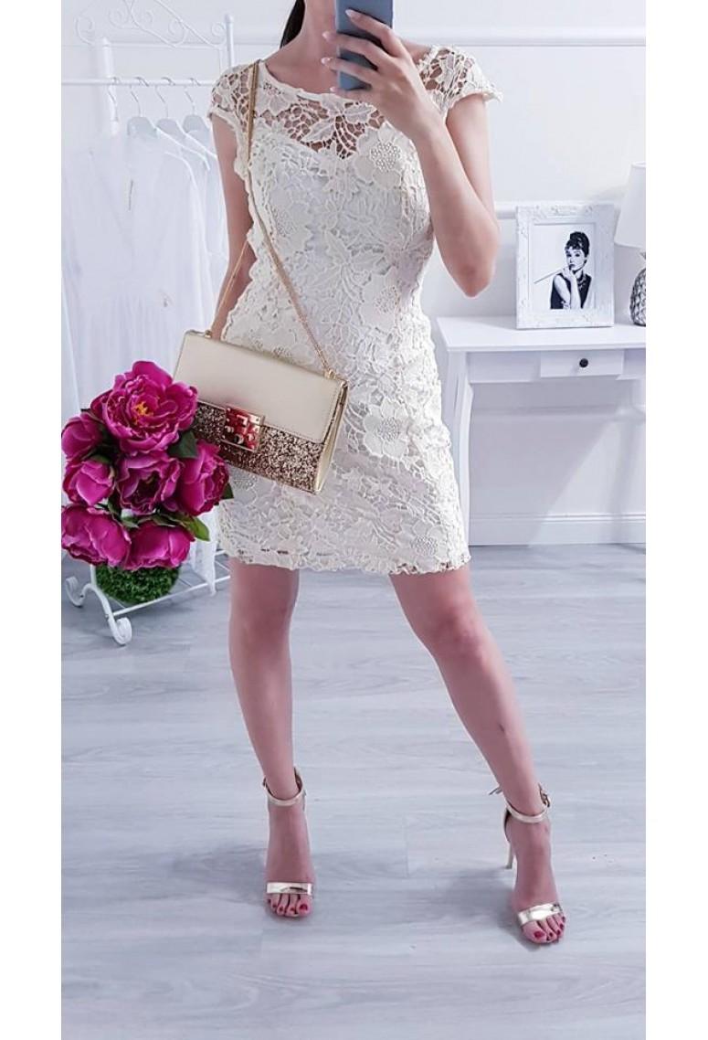 Elegantné šaty Loira Beige