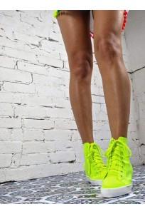 Voňavé Sneakers tenisky - neon žlté