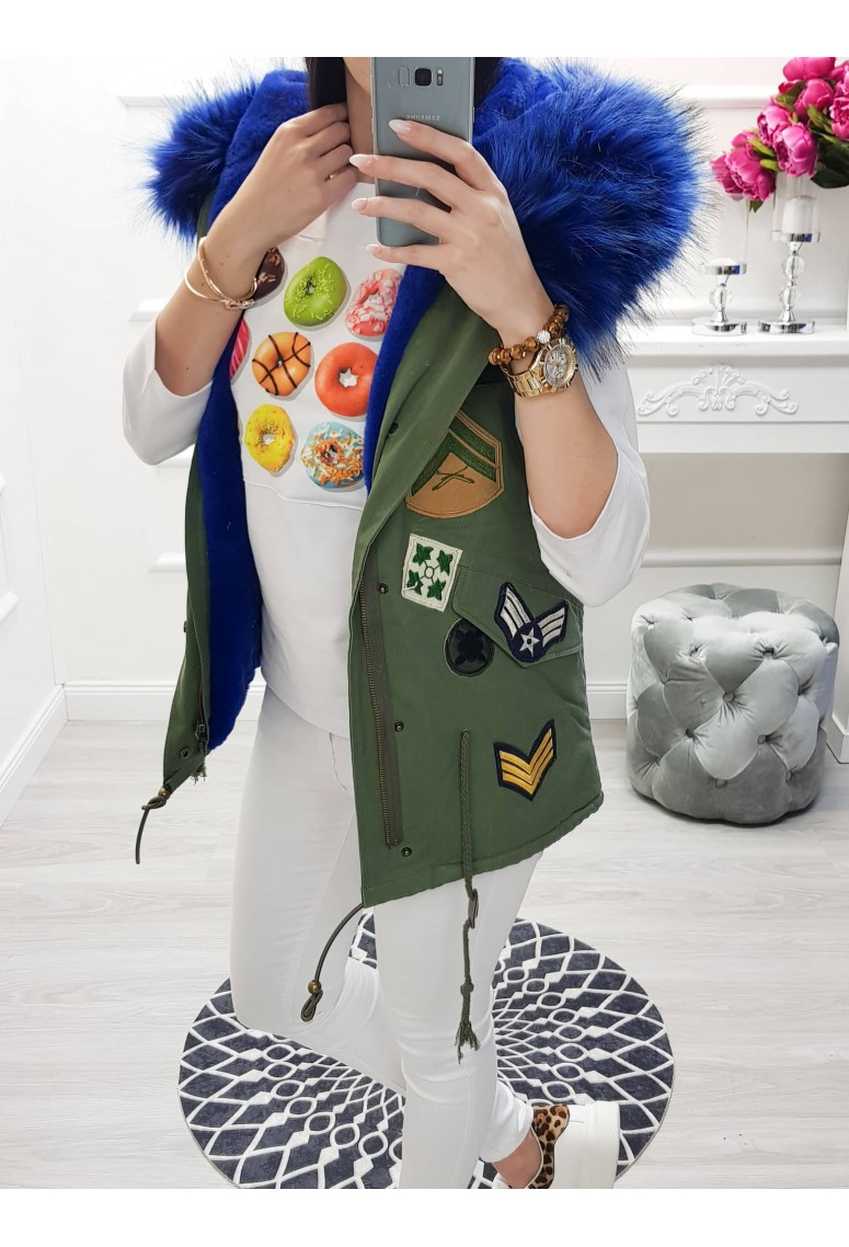 Vesta Army - modrá kožušina