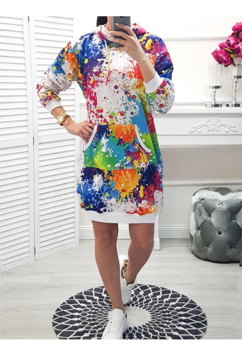Teplakové šaty Colour