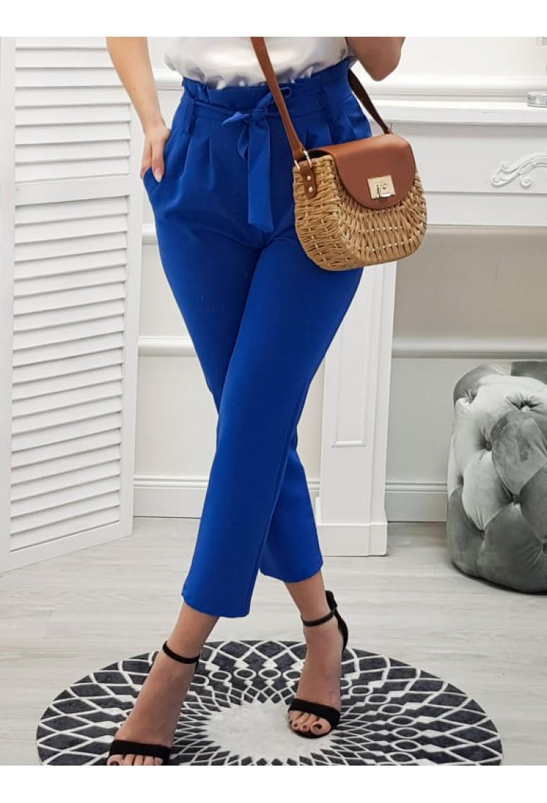 Nohavice s vysokým pásom Nella  - Modré
