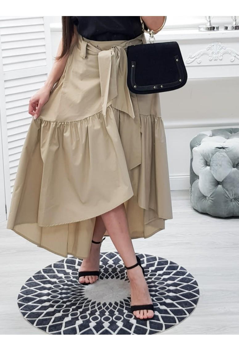 Asymetrická sukňa Butterfly- béžová