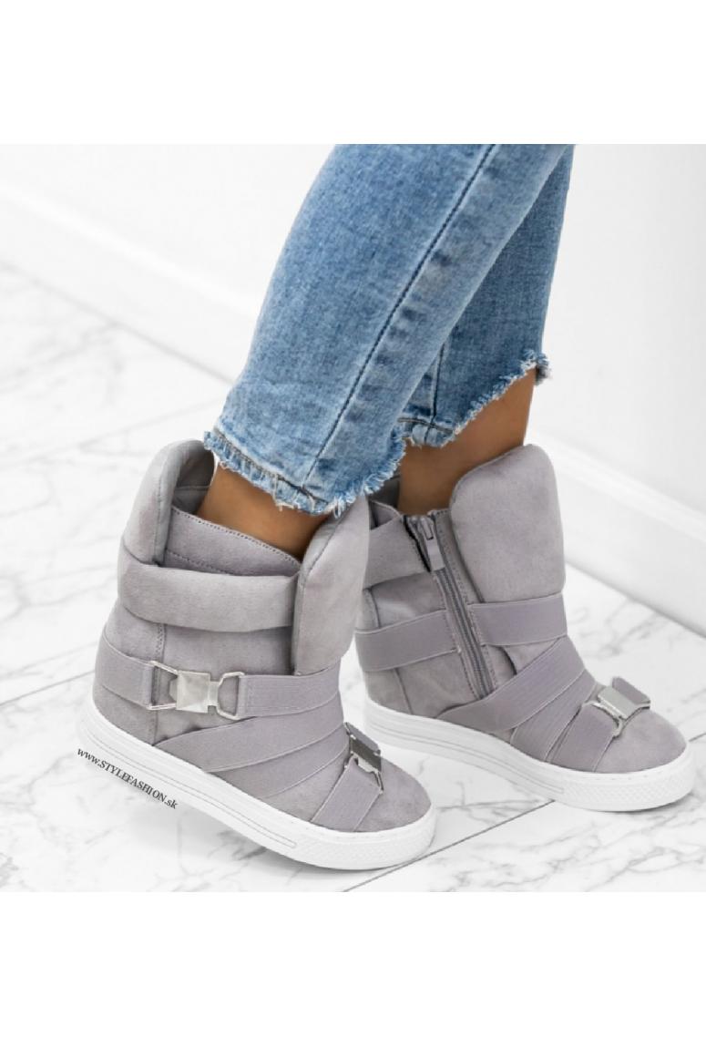 Sneakers tenisky na platforme Julia- sivé