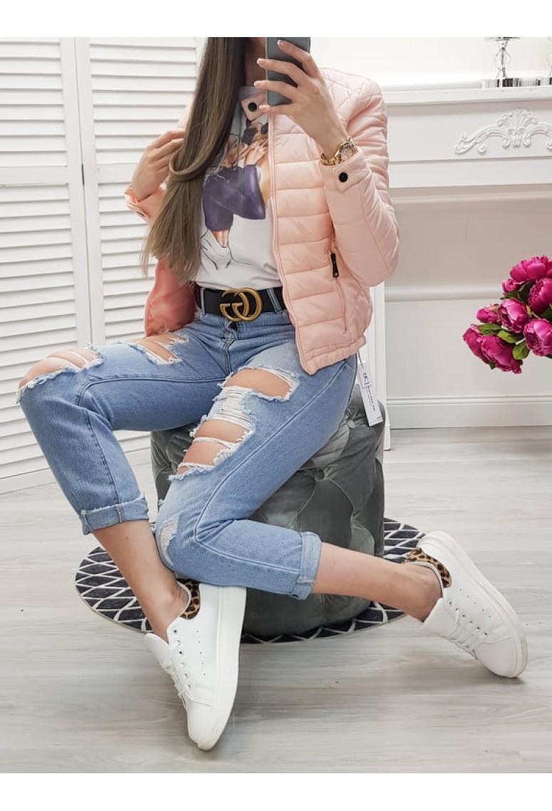 Jarná bundička Mocca - soft pink