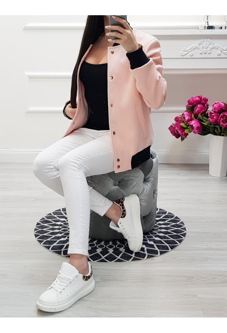 Flisová bomber bunda Girl Power-ružovomarhuľová