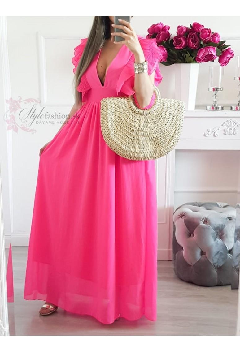 Maxi šaty Fatima - ružové