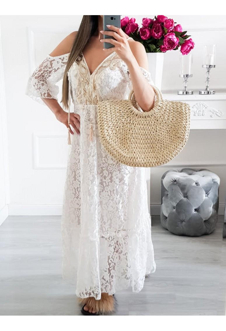 Čipkované maxi šaty Greta