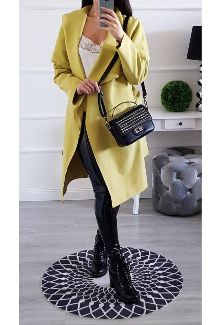 Flaušový kabátik Mia - pistacchio