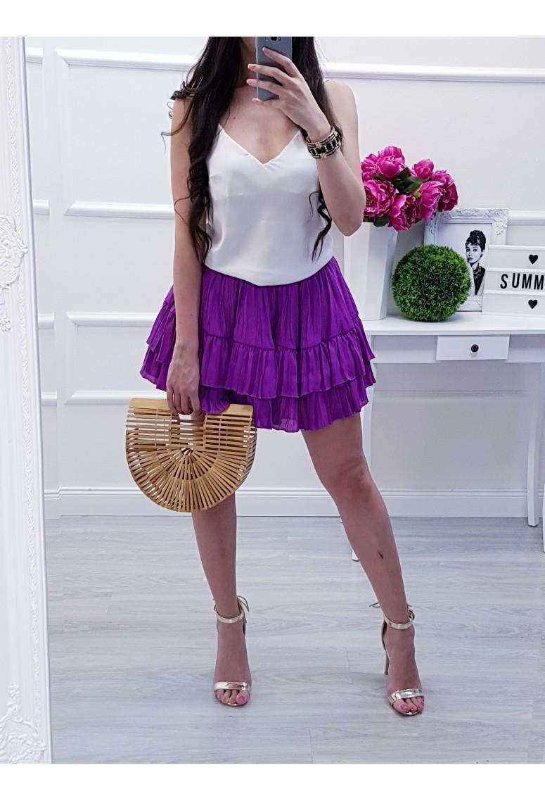 Riasená sukňa Lila Lou- fialová