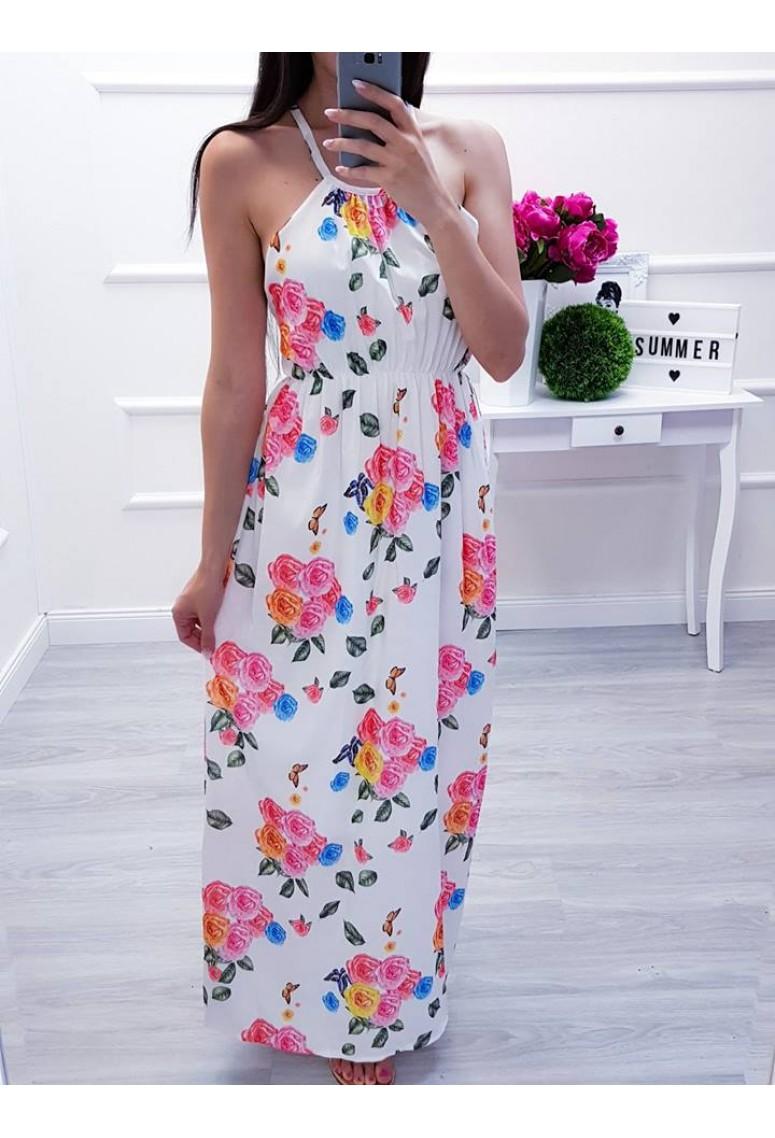 Letné šaty Barbora Pink Flo