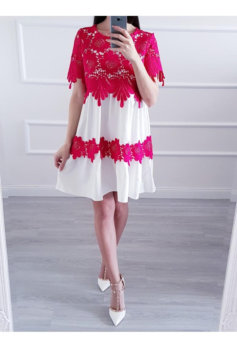 Šaty Barbara Lace - červené 7dbfe784739