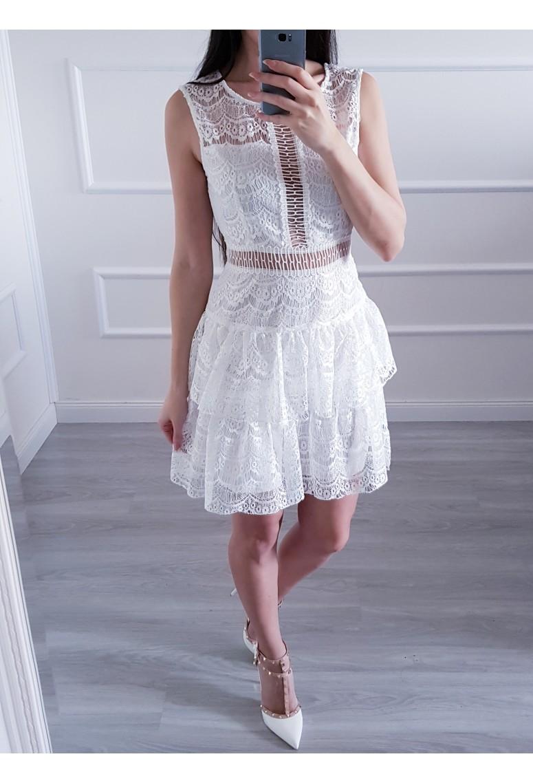 Čipkované šaty Mia - Whitte