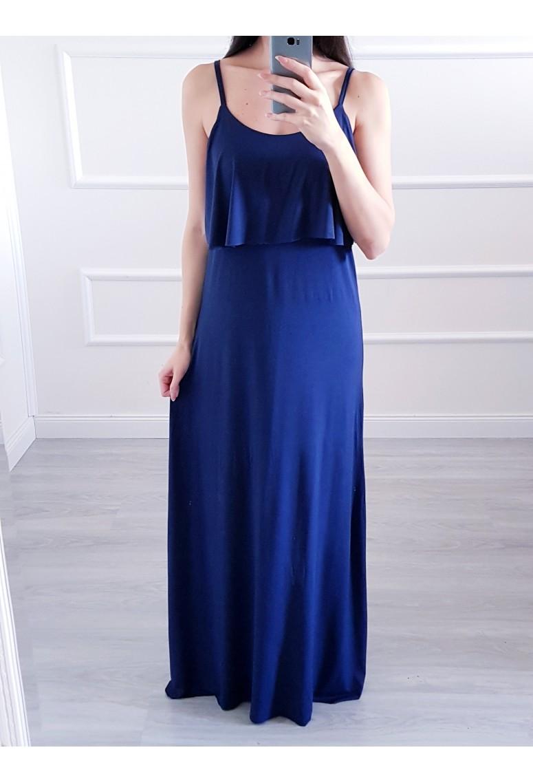Bavlnené maxi šaty DarkBlue
