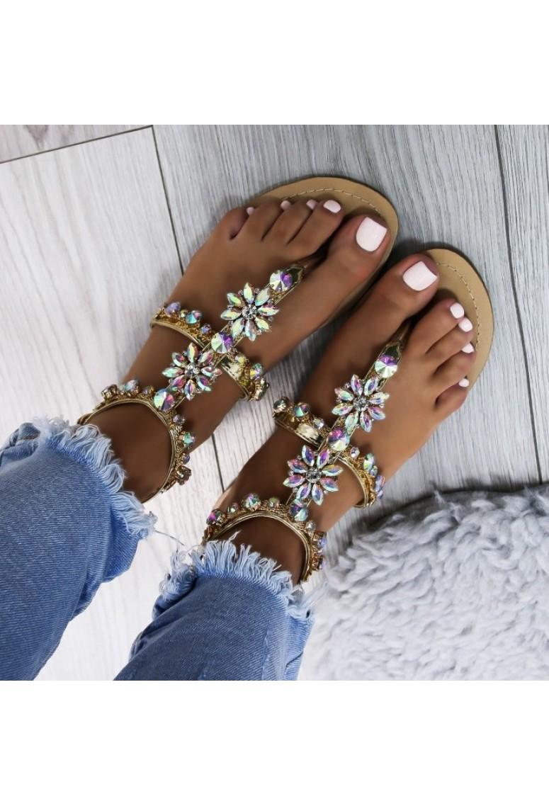 Sandálky Sunset Beach -zlaté