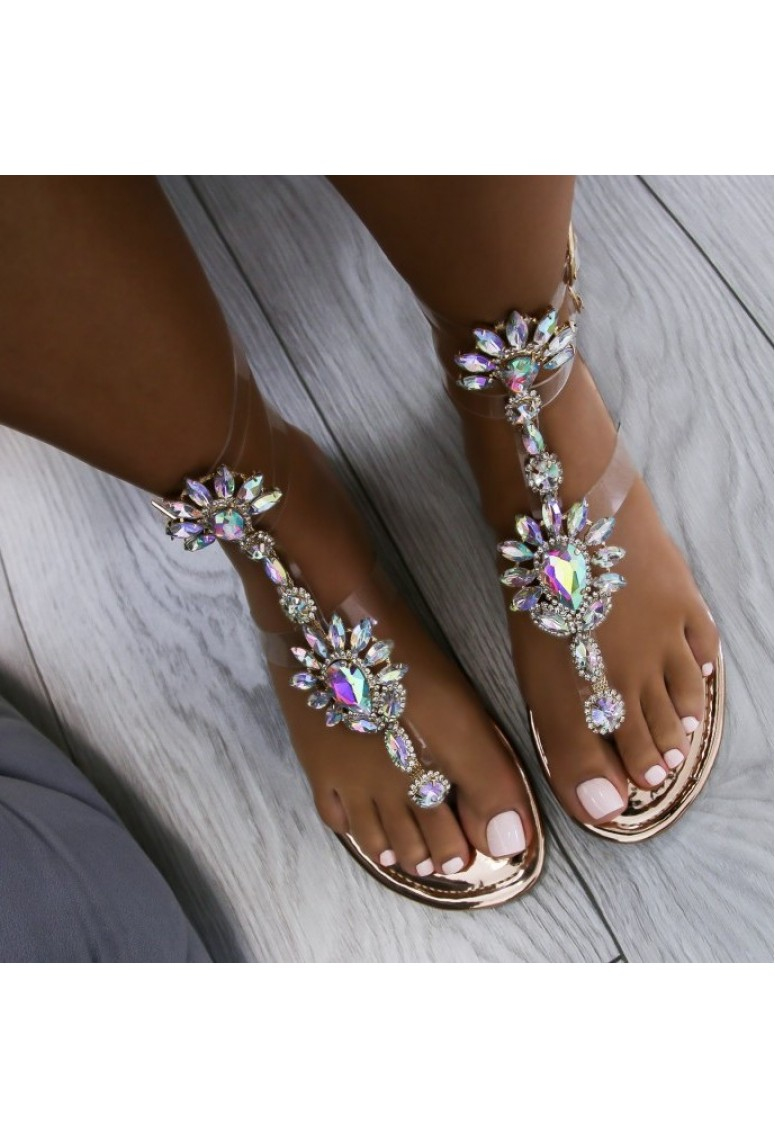 Sandálky Lara Diamond - gold