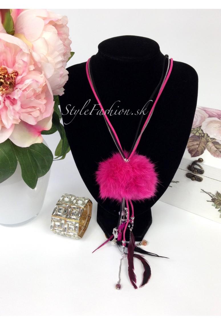 Náhrdelník Pomp ružový